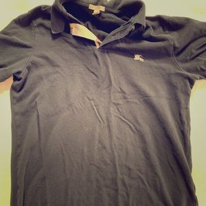 Burberry polo shirt used black XL fits Large L